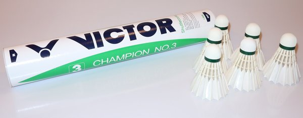 Victor Champion no. 3, feather shuttlecocks (12 pcs)